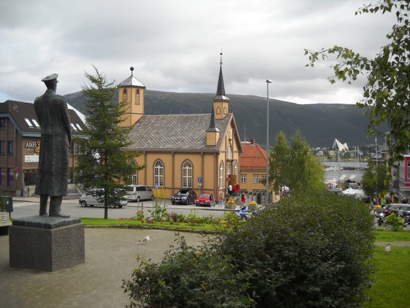 Marktplatz Blick auf Tromsö
