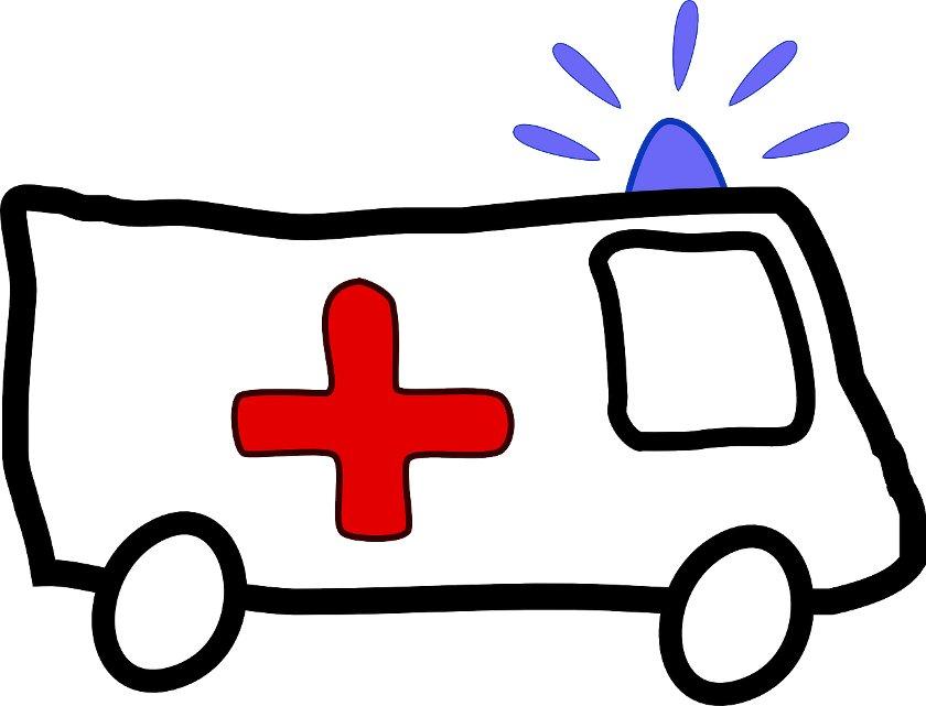 Krankenwagen gezeichnet