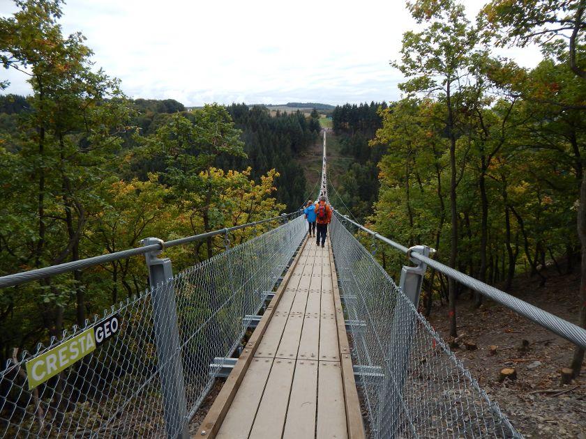 Geierlay, die vormals längste Hängebrücke in Deutschland.