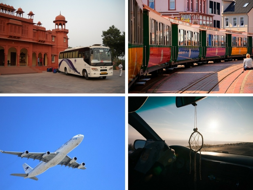 Bahn, Bus, Flugzeug, Auto, Anreise im Urlaub