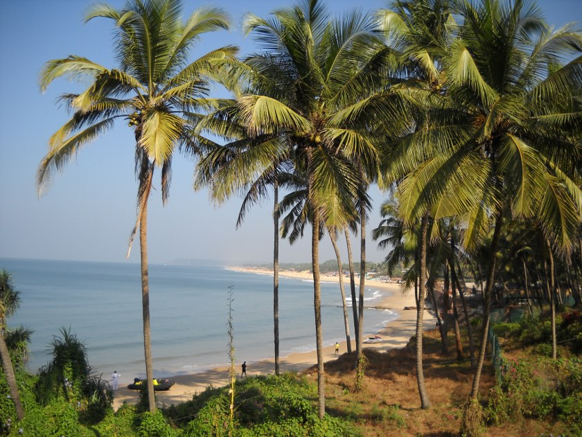 Strand von Candolim Goa Indien