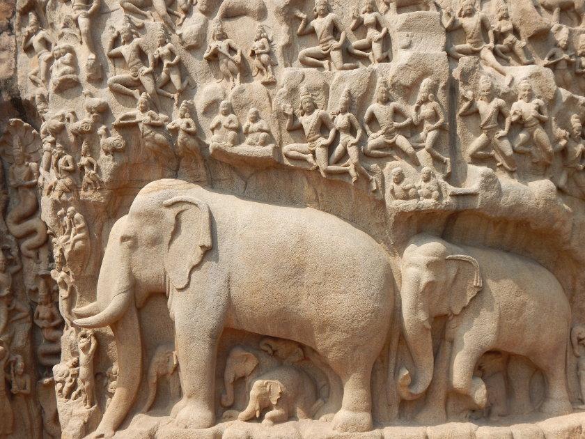 Felsenrelief von Mahabalipuram Indien UNESCO