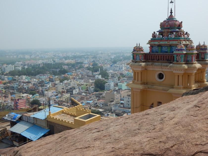 Blick vom Uchi Pillayar-Tempel in Trichy