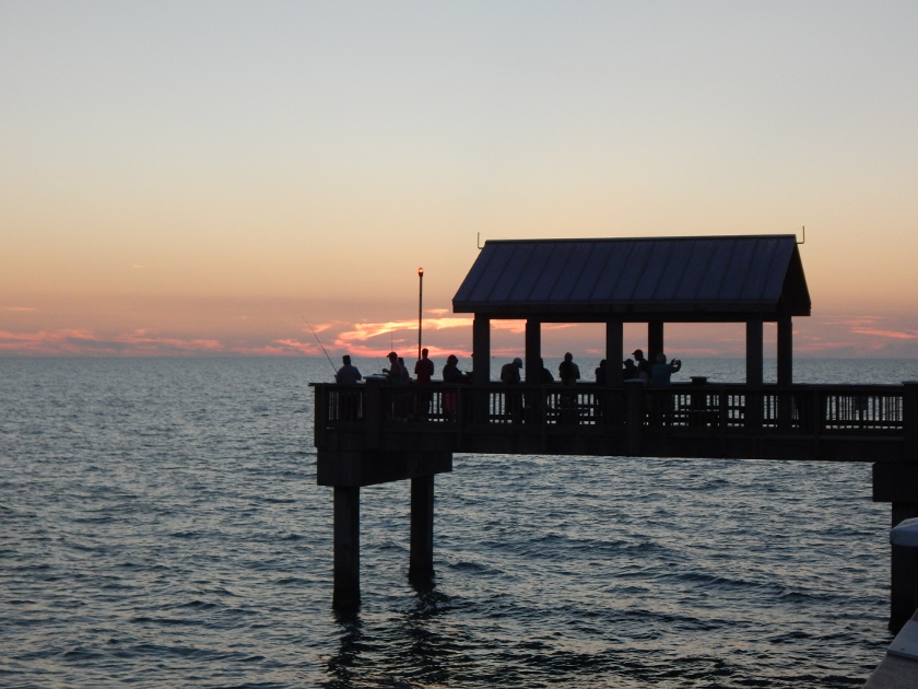 Sonnenuntergang am Pier 60 in Clearwater Beach, Florida