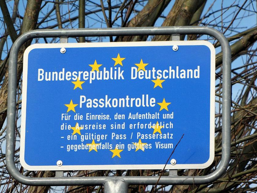 Grenzschild Deutschland