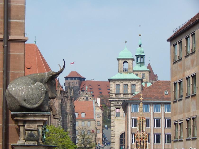 Nürnberg Sehenswürdigkeiten in der Altstadt.