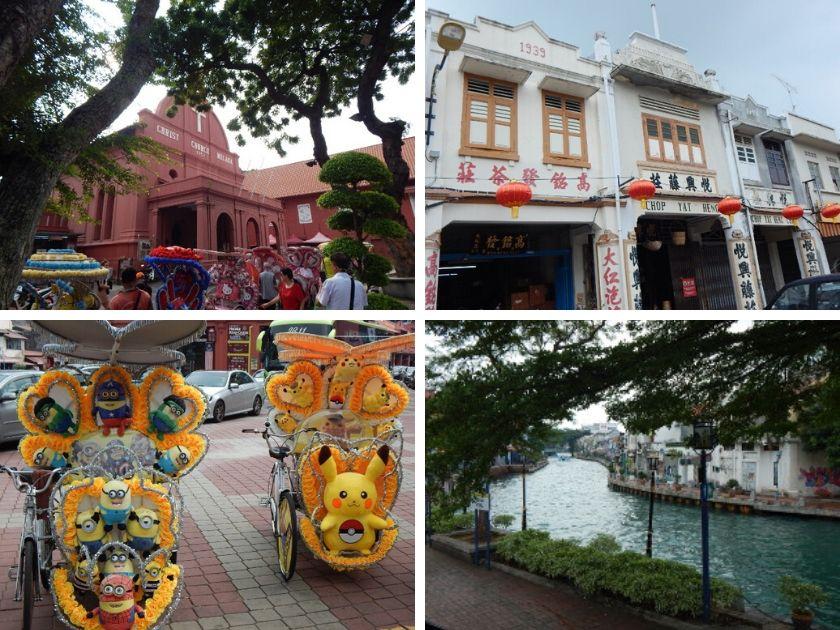 Hafenstadt Malakka oder Melaka in Malaysia