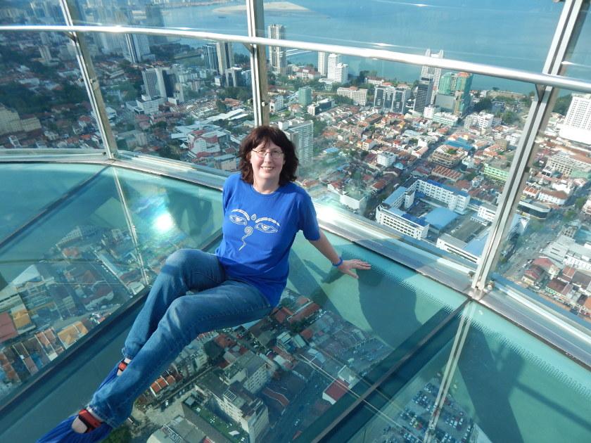 Penang Malaysia Aussichtspunkte - der Skywalk des Comtar Building