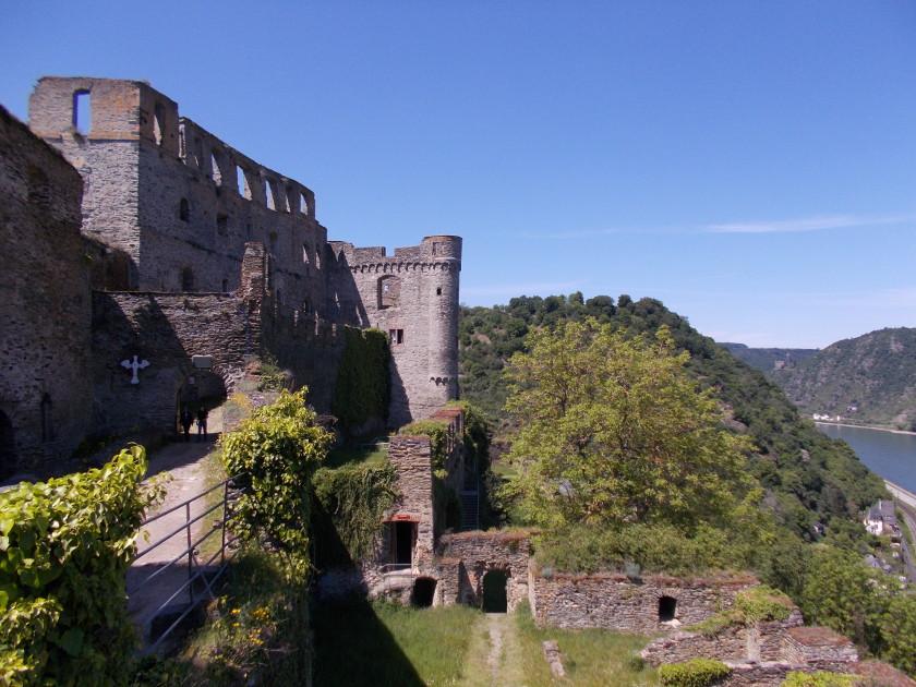 Besichtigung der Burg Rheinfels in Sankt Goar am Rhein.