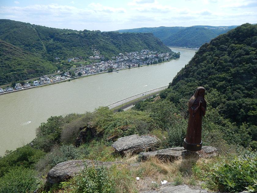 Der Aussichtspunkt Betende Nonne in Boppard-Weiler