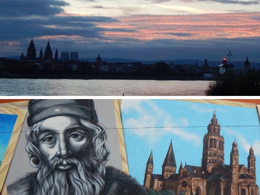 Ein Abend am Mainzer Rheinufer